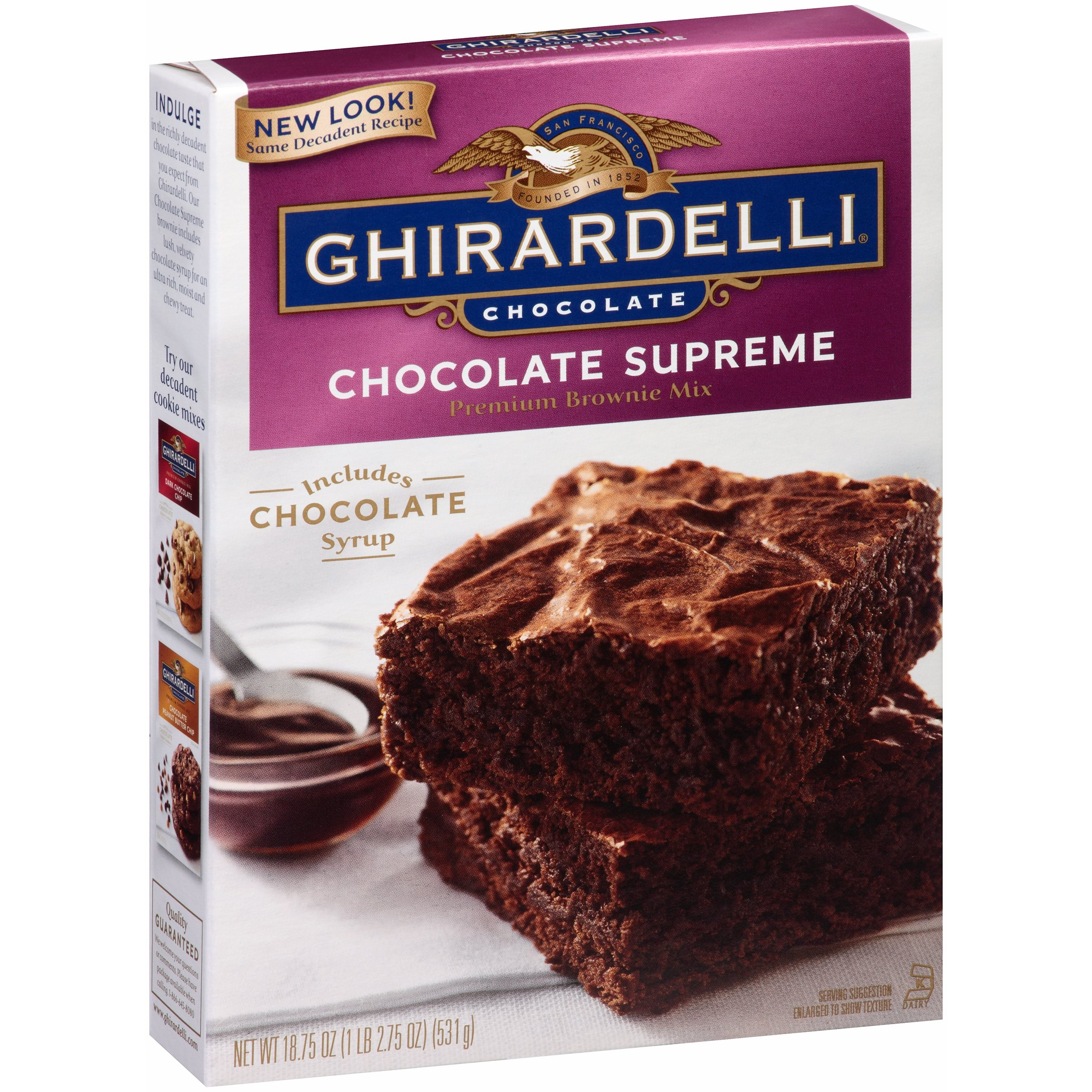 (3 Pack) Ghirardelli Chocolate Supreme Premium Brownie Mix, 18.75 oz