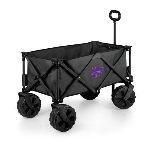 Charcoal Kansas State Wildcats Adventure Wagon Elite All-Terrain Folding Utility Wagon