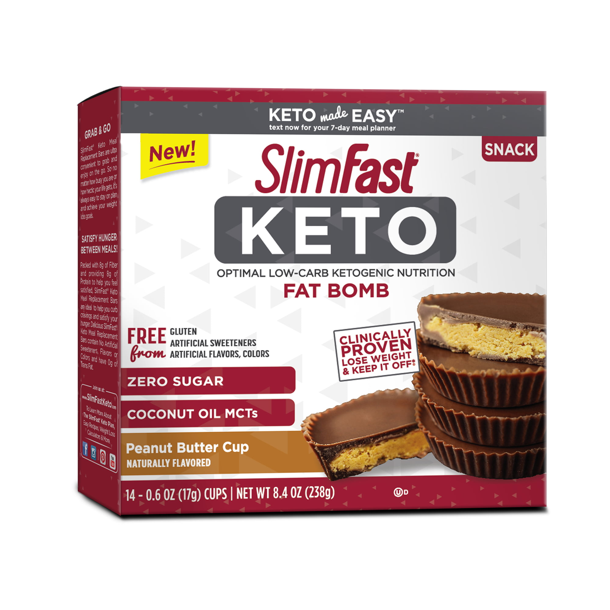 Astounding Slimfast Keto Fat Bomb Snacks Peanut Butter Cups 0 6 Oz 14 Count Walmart Com Cjindustries Chair Design For Home Cjindustriesco