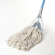 Mop with Metal Push Premium Industrial Strength Heavy Duty Looped-End String Mop Floor Cleaning Kitchen Office