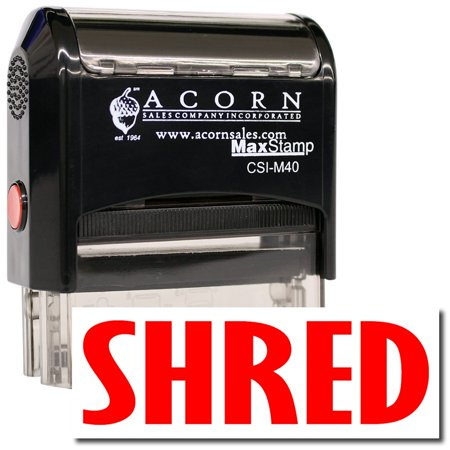 - Large Self-Inking Shred Stamp with Mint Green Ink