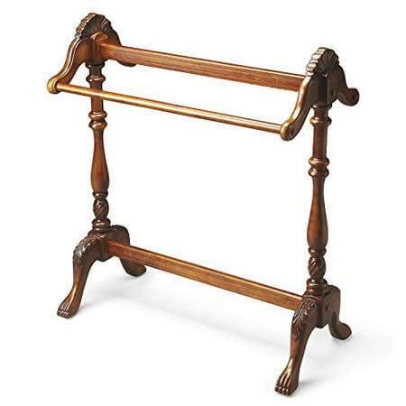Quilt Racks Jamestown Blanket Rack Vintage Oak Finish Accent Furniture