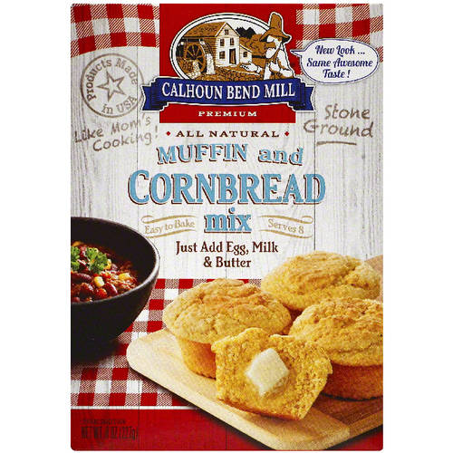 Calhoun Bend Mill Premium Muffin and Cornbread Mix, 8 oz, (Pack of 6