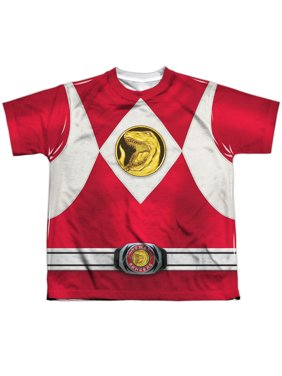 Power Rangers - Red Ranger Emblem - Youth Short Sleeve Shirt - Large
