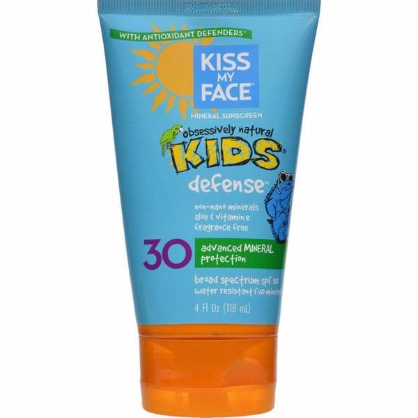 Kiss My Face Kids Sunblock Natural Mineral Lotion Spf 30 - 4 Fl Oz