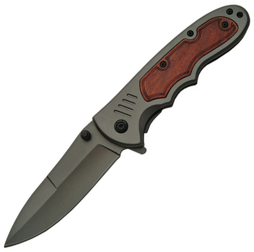 Szco Supplies 300286 Assisted Opening Wood Tech Folding Knife Multi-Colored