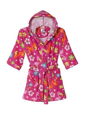 St. Eve Girls Beach Cover-up Robe - Pink Flamingo (L (10/12))