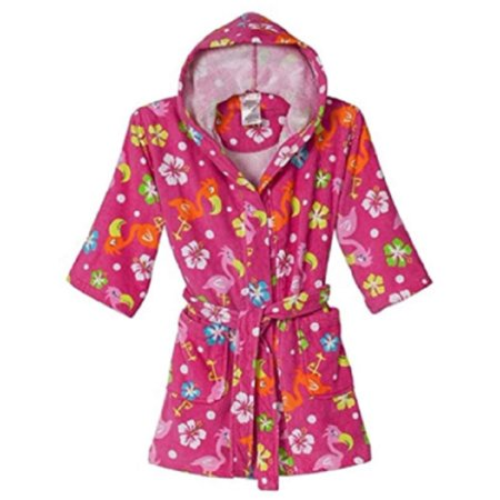 Girls Swim Coverup (St. Eve Girls Beach Cover-up Robe - Pink Flamingo (L)