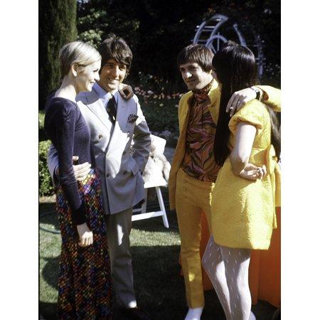 Twiggy Sonny Bono and Cher Photo Print - Sonny Bono Costumes