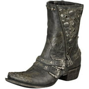 Lane Western Boots Womens High Plains Cruiser Studded Black DD9024A