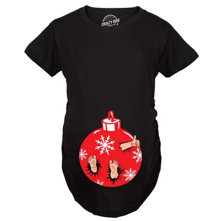 Maternity Christmas.Maternity Christmas Ornament Baby Pregnancy Tshirt Cute Xmas Holiday Tee For Mom To Be