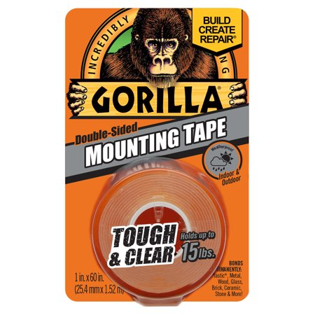 - Gorilla Mounting Tape Clear, 1
