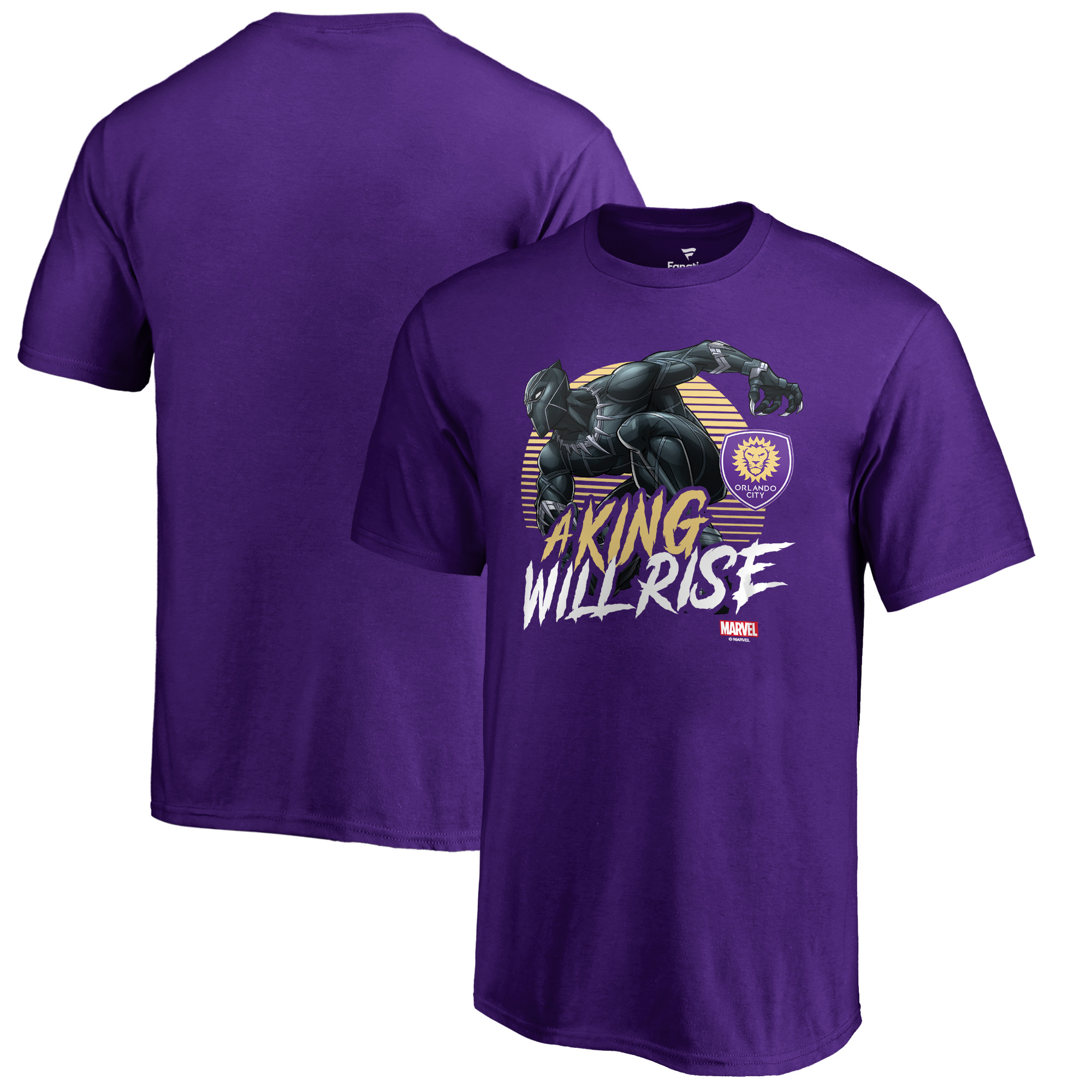 Orlando City SC Fanatics Branded Youth Marvel Wakanda Forever T-Shirt - Purple