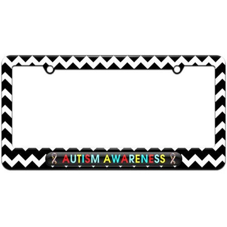 Autism Awareness, Puzzle Ribbons License Plate Tag Frame, Multiple ...