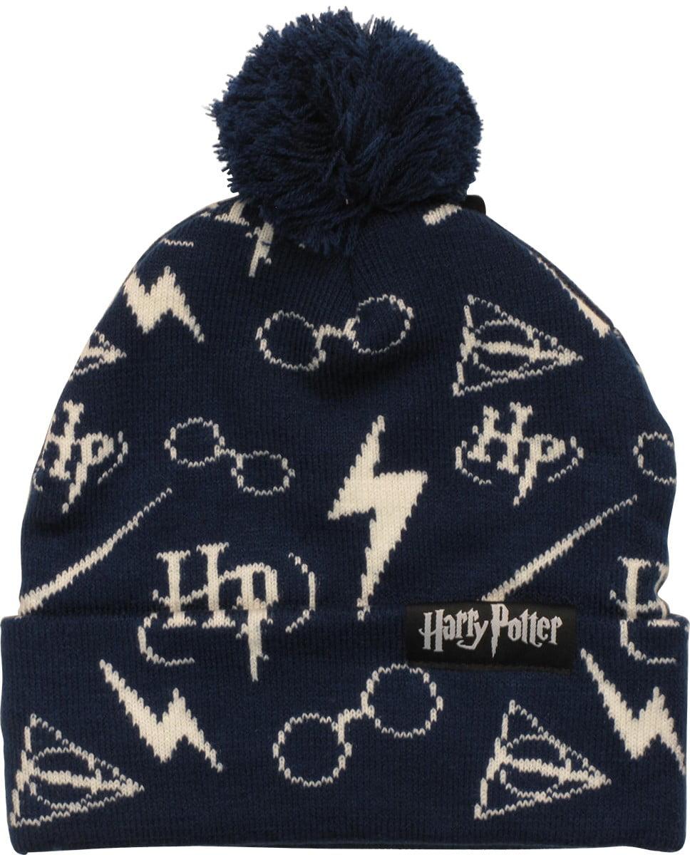 Harry Potter Symbols All Over Print Pom Beanie Walmart