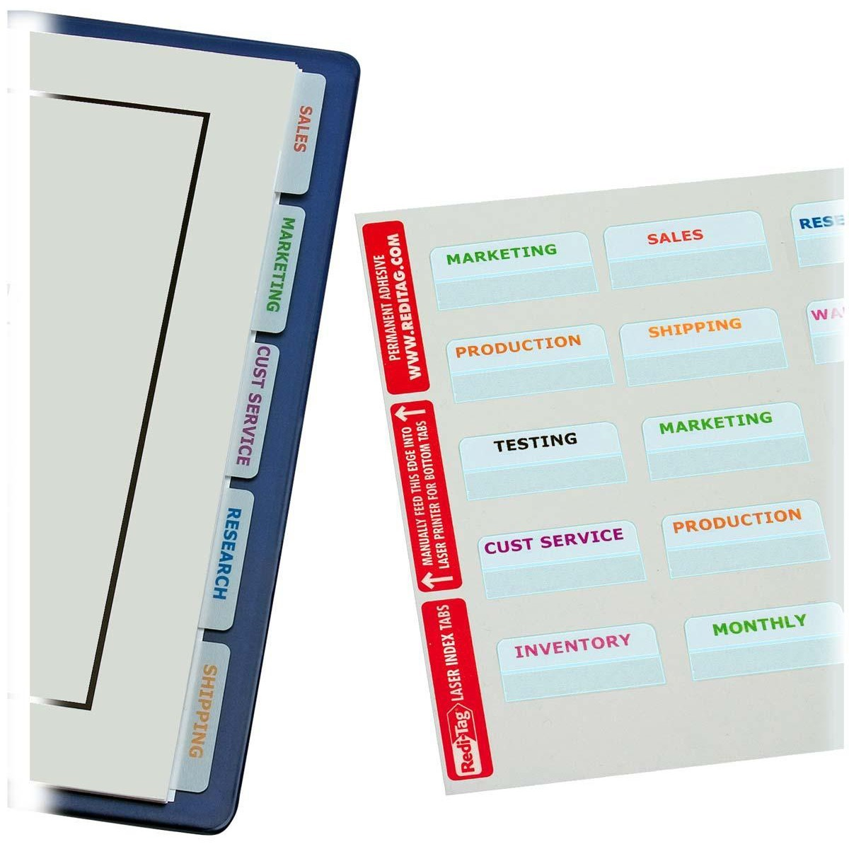 "Redi-Tag, RTG39170, White Bulk Pack 2"" Printable Index Tabs, 300 / Pack"
