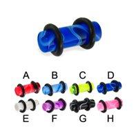 2 Gauge Marble Plug,Light Blue - B