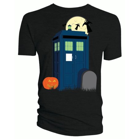 Doctor Who Classic Womens T-Shirt Halloween Tardis