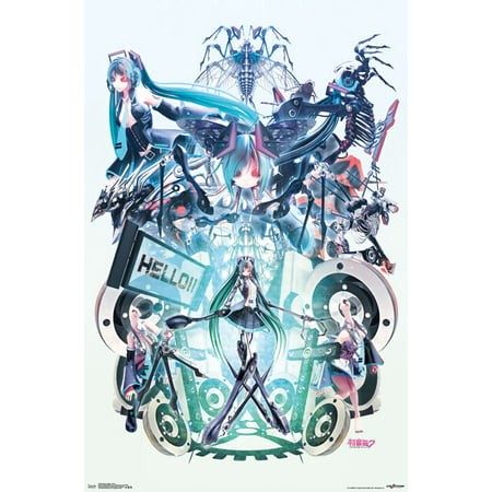 Trends International Hatsune Miku Hello Wall Poster 22.375