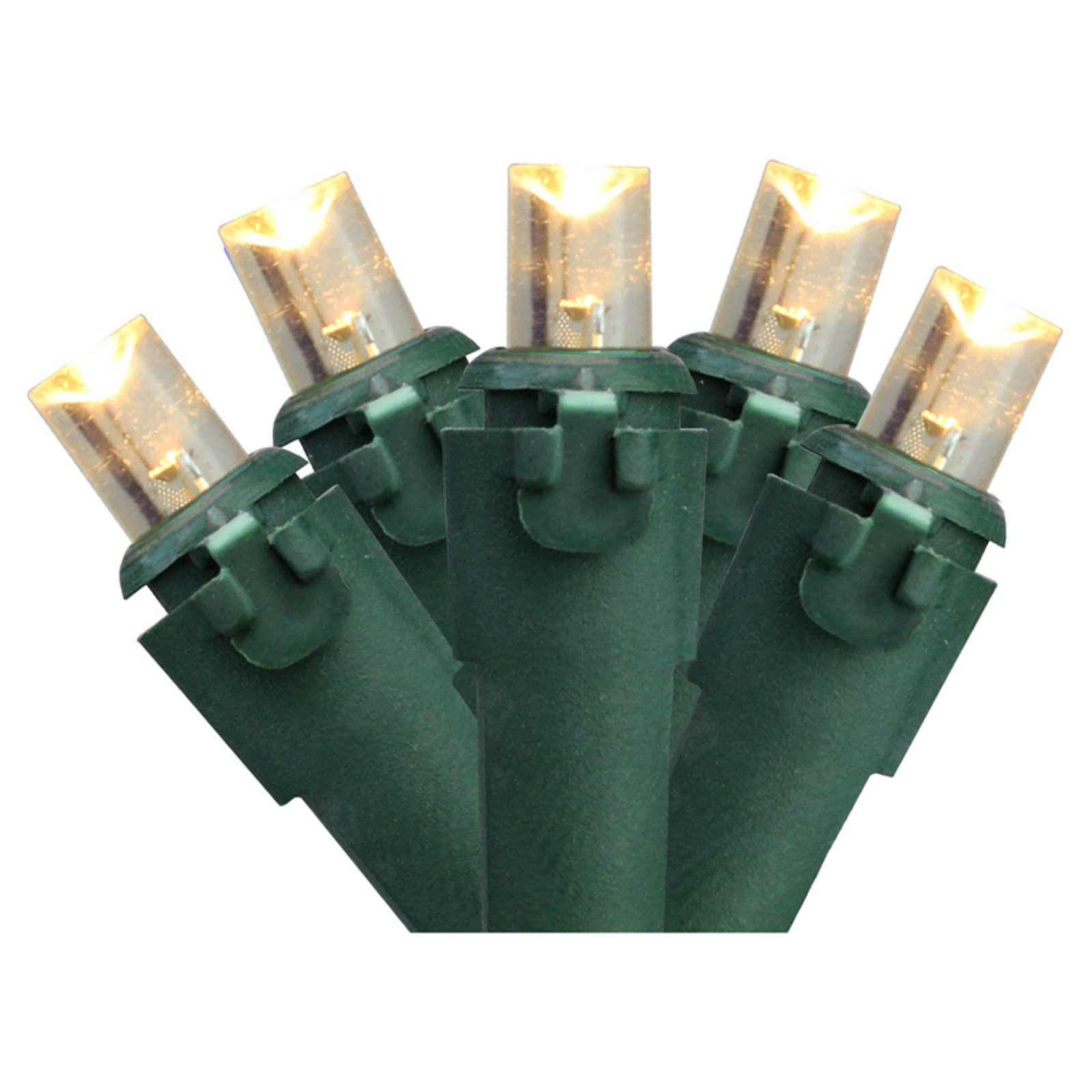 Northlight 100 ct. LED Lights with Green Wire 4 in. Spacing