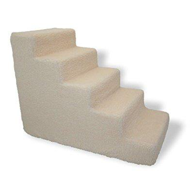Pet Stairs For Tall Bed Foam Pet Steps White 5 Step Dog