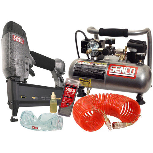 Factory-Reconditioned SENCO PC0947R FinishPro 18-Gauge Brad Nailer Compressor Combo Kit (Refurbished)