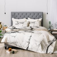 Chelsea Victoria Marble Comforter by Deny Designs