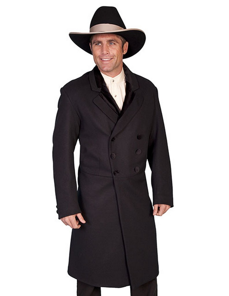Scully Western Coat Mens Wool Double Breasted Button Front 511019 by Scully