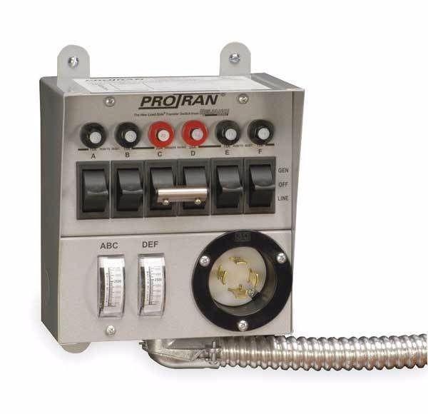 Reliance Controls 30216A Pro/Tran 6 Circuit Power Transfe...