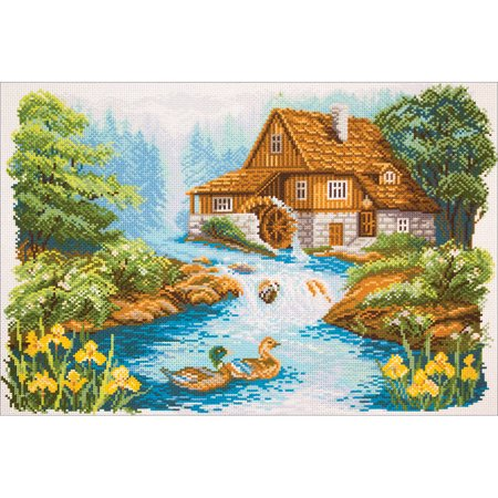 Collection D'Art Stamped Cross Stitch Kit, 37cm x 49cm, Water