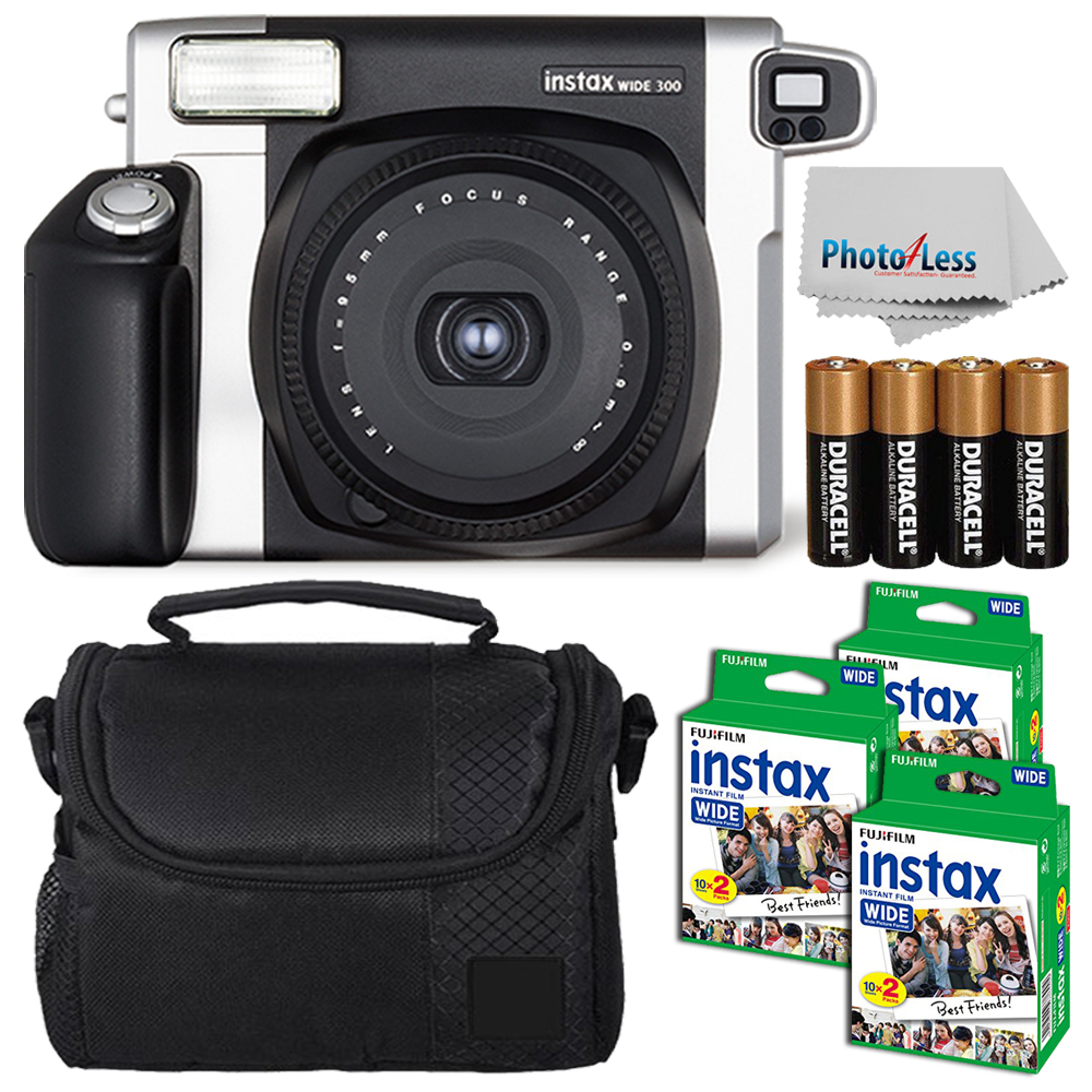 FujiFilm Fuji INSTAX Wide 300 Instant Film Camera +60 Films + More Top Value Kit by Fujifilm