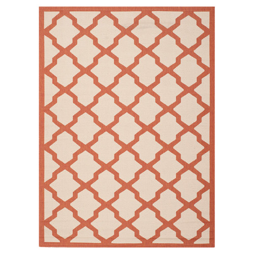 Safavieh Courtyard Beige/Terracotta Outdoor Area Rug