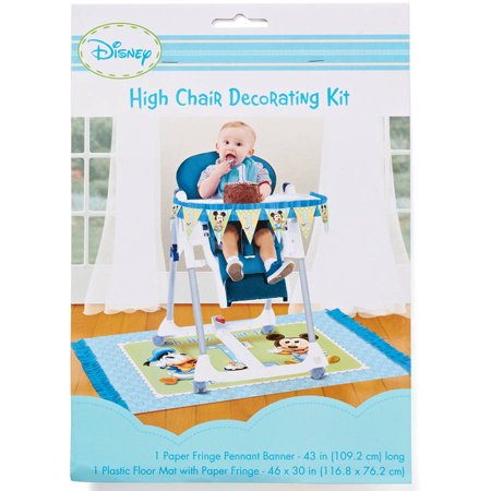 Mickey Mouse First Birthday High Chair Decorating Kit Party Supplies