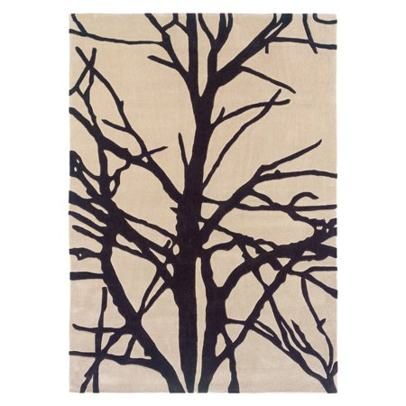- Trio Collection Cream & Charcoal 1.10 x 2.10 Rug