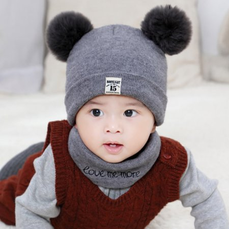 2018 New Autumn Winter Christmas Hat Baby Boys Girls Hat Warm Windproof Wool Hat Toddler Kids Children's Lovely Cute Soft Beanie Hat Cap for Boys Girls](Girls Christmas Hat)