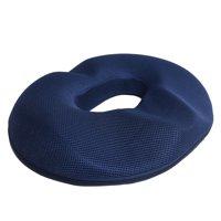 Memory Foam Donut Seat Cushion Orthopedic Hemorrhoid Treatment Donut Pillow Office Chair Car Seat Massage Cushion (For Men - Dark Blue)