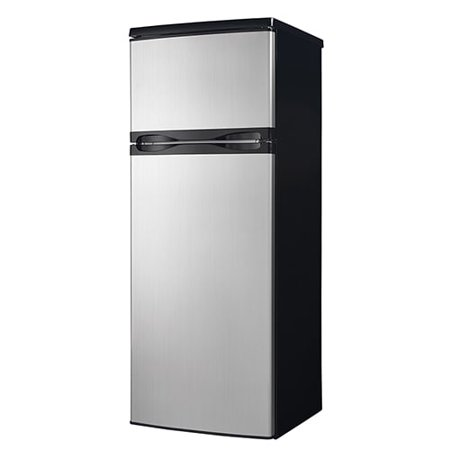 Counter Depth Stainless Refrigerator - Danby 7.3 cu ft Black Top Mount Refrigerator with Stainless Steel Doors