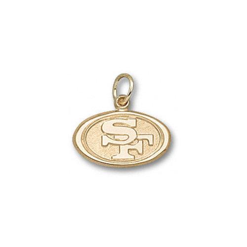 NFL - San Francisco 49ers 10K Gold ''SF'' Logo 3/8'' Pendant
