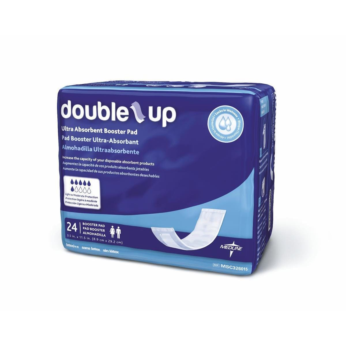 Medline Double-Up Disposable Incontinence Thin Liners (Pack of 192)