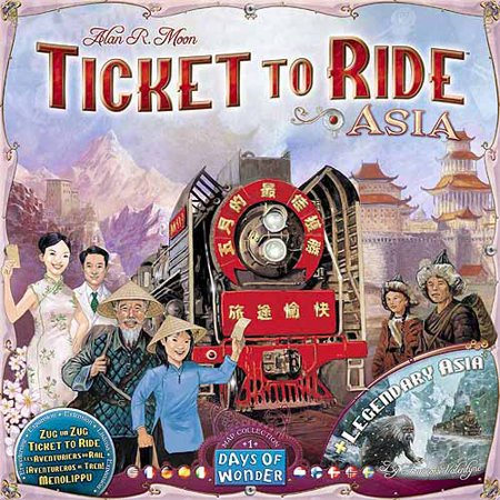 Days of Wonder Ticket to Ride Asia Map Collection, Volume 1