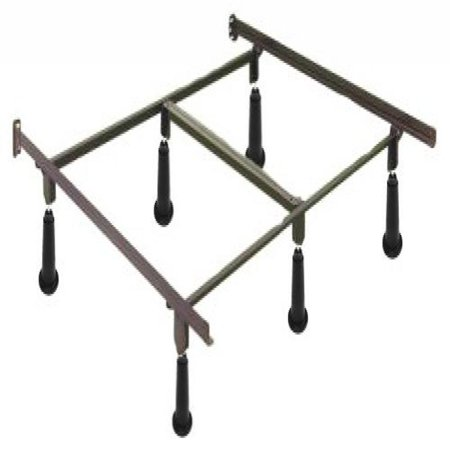 High Rise Metal Bed Frame With Headboard Brackets Cal King