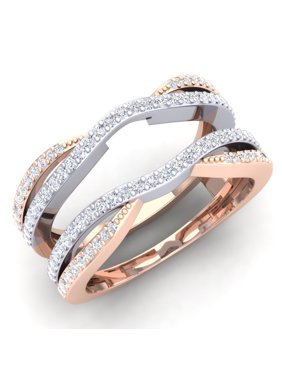 Product Image 0 50 Carat Ctw 14k White Rose Gold Two Tone Diamond Wedding Band Enhancer
