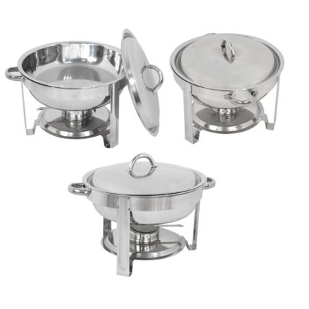 Halloween Food Ideas Main Dish (Zeny 3 Pack Chafing Dish Set, Buffet Catering, Stainless Steel Food Warmer,)