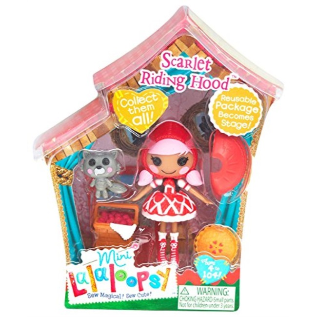 lalaloopsy 3 inch mini figure with accessories scarlet riding hood