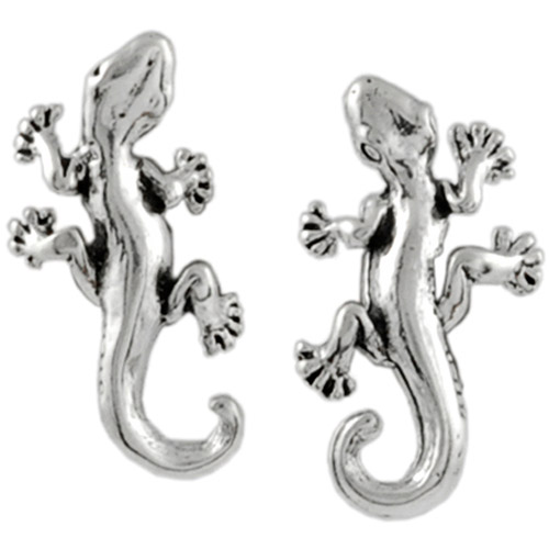 Brinley Co. Sterling Silver Gecko Stud Earrings
