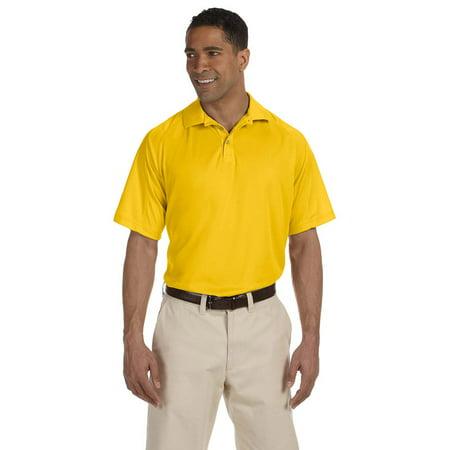 Harriton M374 Mens Poly Mesh Polo Shirt - Gold - X-Small