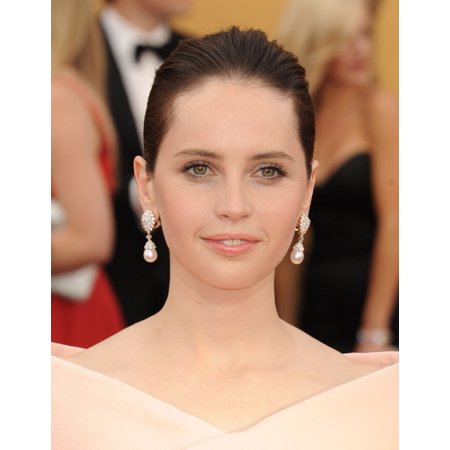 Felicity Jones At Arrivals For 21St Annual Screen Actors Guild Awards   Arrivals 2 The Shrine Exposition Center Los Angeles Ca January 25 2015 Photo By Dee Cerconeeverett Collection Photo Print