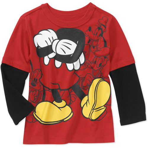 Disney Baby Boys' Mickey Mouse Hangdown Graphic Tee