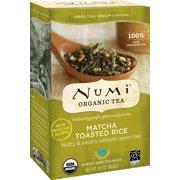 Numi Organic Tea, Matcha Toasted Rice, Tea Bags, 18 Ct