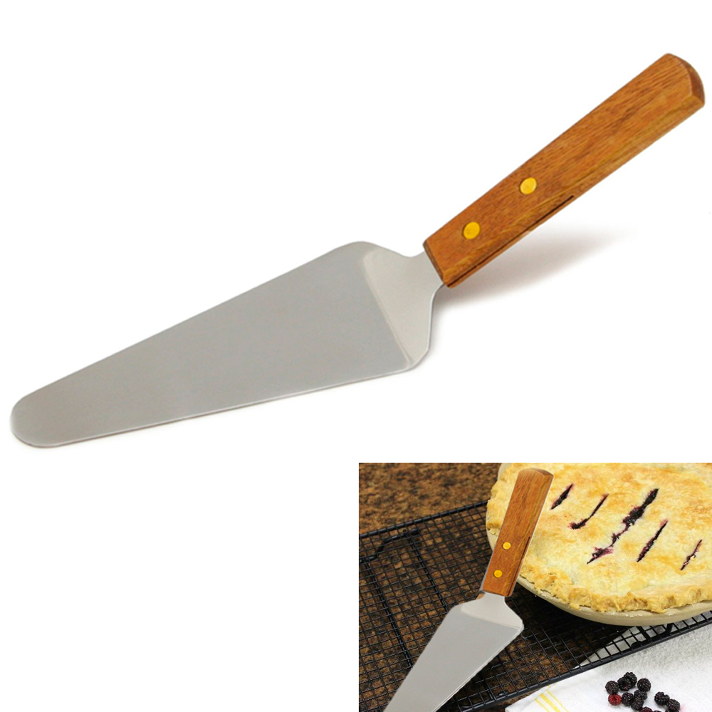 "10"" Stainless Steel Blade Cake Pie Pizza Spatula Serve Dessert Party Wood Handle by Chef Craft"